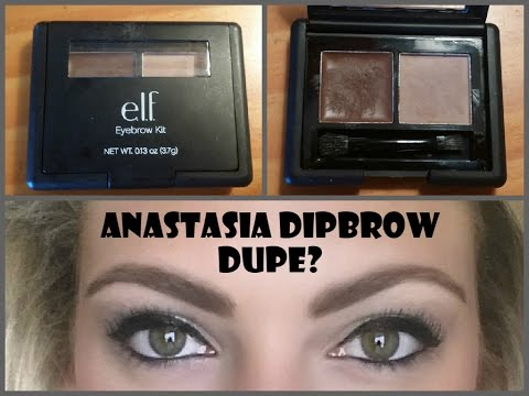 Review & Demo: e.l.f. Studio Eyebrow Kit….Anastasia Dipbrow Dupe???