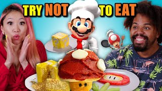 Try Not To Eat Challenge - Super Mario Bros. Food | People Vs. Food