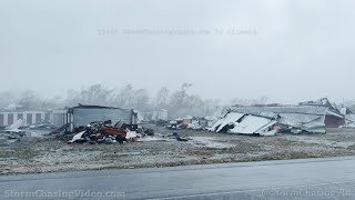 Raw footage of Hurricane IDA extreme winds and storm surge, Golden Meadow, LA - 8-29-2021