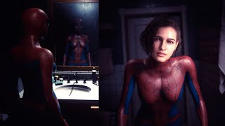 Resident Evil 3 Remake Playing as Spiderman Outfit