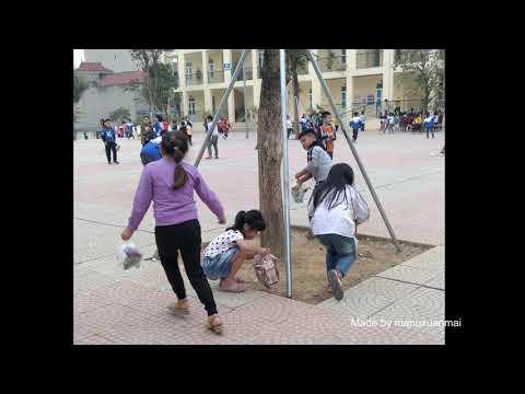 Những hành động đẹp bảo vệ môi trường của học sinh Trường Tiểu học Thị trấn Xuân Mai A