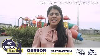 Raquel Loor candidata para la Asamblea por el Guayas.