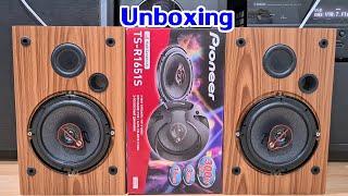 Car Audio : ลำโพงรถยนต์ Unboxing Pioneer TS-R1651S 3ways coaxial speaker better sound than previous