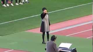 ラグビー早明戦でユーミンが「ノーサイド」を熱唱!!!2013.12.1