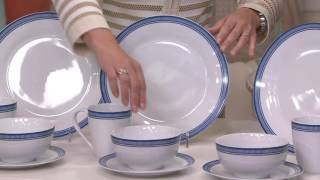 Emeril Bistro 16-Piece Porcelain Dinnerware Set By Gorham On QVC