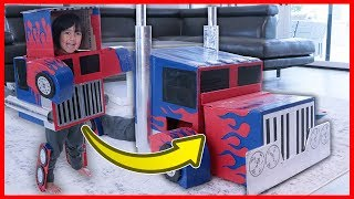 Costumes turns Ryan into Transformers Pretend Play fun!!!! Then Ryan Toysreview had fun dressing up into other fun superhero for kids bumblebee, Marvels Avengers and more!!! The Transformers optimus prime costume is made out of cardboard!