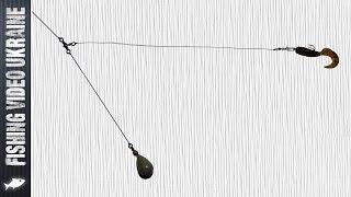 Как привязать офсетный крючок на отводной поводок