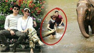 KathNiel vacation sa Thailand. Sobrang happy ni Kathryn na nakakita ng Elephants 😁