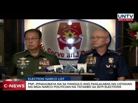 [UNTV]  PNP, ipinauubaya na sa pangulo ang paglalabas ng narco list ng mga tatakbo sa eleksyon