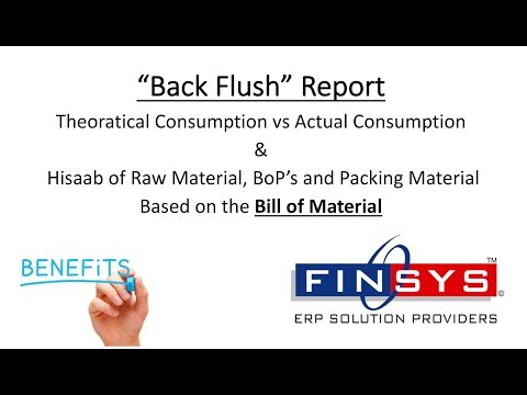013 Backflush Theoratical Consumption vs Actual Consumption