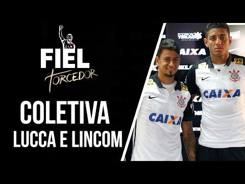 Apresentados neste sábado, Lucca e Lincom falam das expectativas no Timão