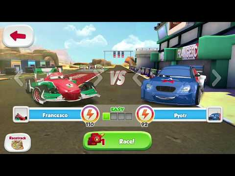 Disney PIXAR CARS Francesco Vs Shifty & Pyotr Racinov Track Racing Game