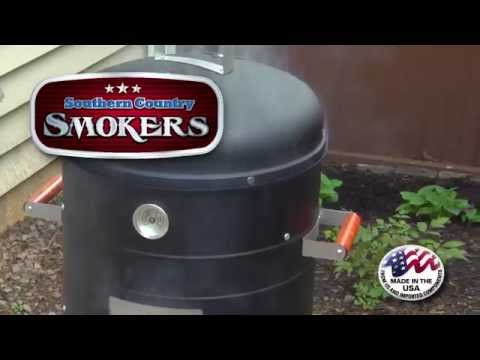 Southern Country 2 In 1 Charcoal Water Smoker Grill
