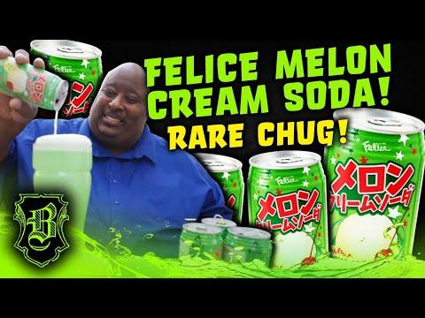 ANOTHER RARE CHUG FOLKS!! | Felice Melon Cream Soda from Japan