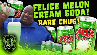 ANOTHER RARE CHUG FOLKS!!   Felice Melon Cream Soda from Japan.