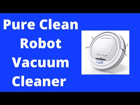 Pure Clean Robot Vacuum Cleaner - Upgraded Lithium Battery 90 Min Run Time