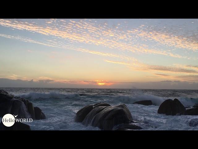 Sonnenuntergang an der Costa da Morte in Muxia