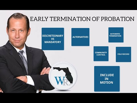 [Early Termination of Probation]