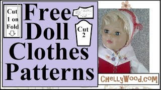 Free Doll Clothes Patterns: 18 Inch Doll Clothes Pattern PDF Free