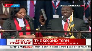 Deputy President William Ruto takes the oath of office