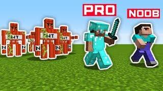 Minecraft NOOB Vs PRO : TNT GOLEM In REAL LIFE   Minecraft Battle