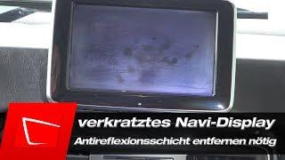 Navi Display Kratzer entfernen - Antireflexionsschicht entfernen nötig - Mercedes G-Klasse