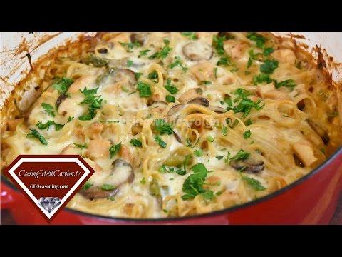 Creamy Chicken Tetrazzini Recipe |Casserole Recipe |Cooking With Carolyn