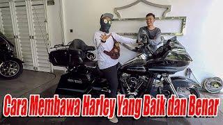 BELAJAR BAWA HARLEY DAVIDSON - NCENG ENGGA MAU TURUN DARI MOTOR !!!