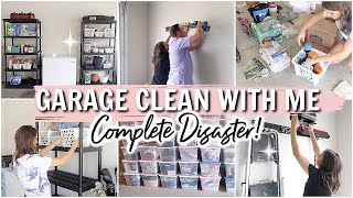 COMPLETE DISASTER GARAGE CLEAN WITH ME // EXTREME ORGANIZE AND DECLUTTER // Simply Allie