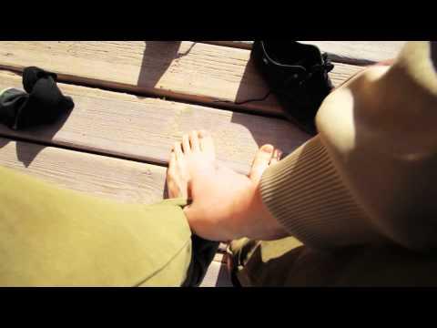 Wie gribok auf der Haut der Beine gezeigt wird