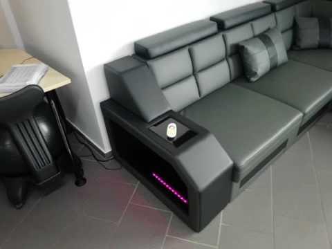 Sofa Dreams Ledersofa Matera XXL mit LED