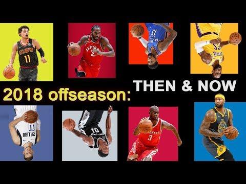 The 2018 NBA Offseason: Then & Now