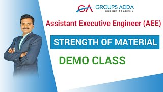 Strength of material Demo Class     Assistant Executive Engineer (AEE)  online class   Groupsadda