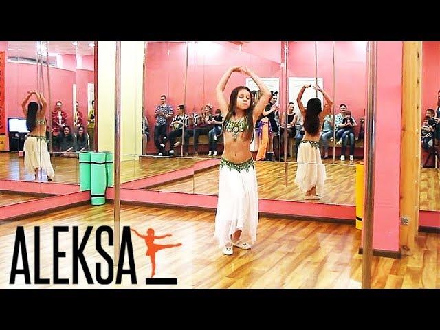Восточные танцы - танец живота. Belly Dance - дети. Юная ученица Ева на празднике в ALEKSA Studio