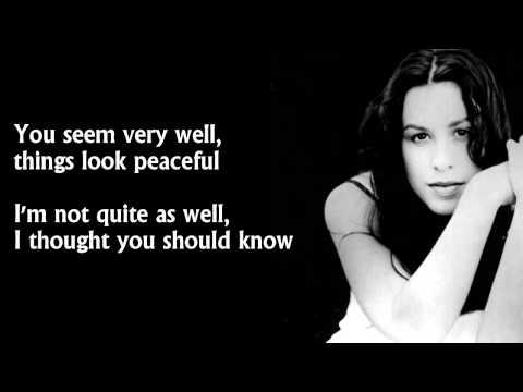 Alanis Morissette - You Oughta Know (lyrics) [HD]