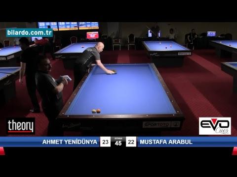 AHMET YENİDÜNYA & MUSTAFA ARABUL Bilardo Maçı - 2018 ERKEKLER 1.ETAP-Ön Eleme