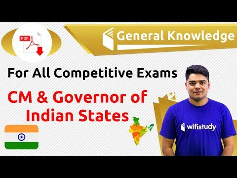 12:00 AM - GK by Sandeep Sir   CM & Governor of Indian States