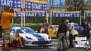 """GTA 5 Car Show Car Meet Up with Real Car Mods! - """"GTA 5 PC Mods"""""""