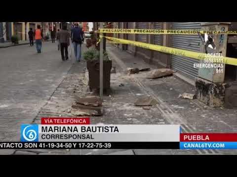 Continúa la evaluación de los daños en el Centro de Puebla, luego del sismo del pasado martes 19 de septiembre