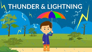 What causes thunder and lightning? | Thunderstorm | Video for Kids