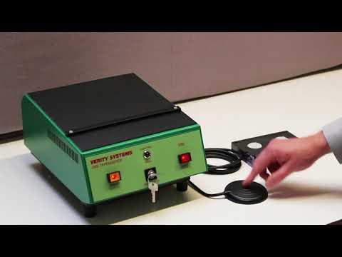 Video of the Verity V92 Compact Hi-Energy Digitape Master Degausser Shredder
