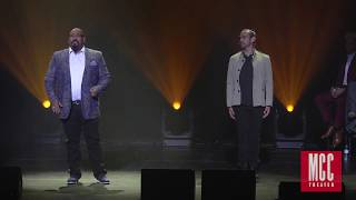 """James Monroe Iglehart performs """"Satisfied"""" with Javier Muñoz and Lexi Lawson from HAMILTON"""