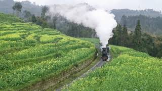 preview picture of video 'Jiayang Steam Train in Sichuan, China'