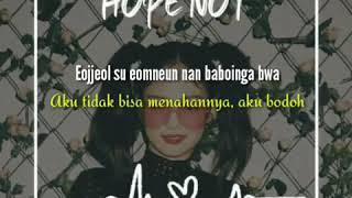 "Musik lirik black pink ""hope not"" ,bahan story wa"