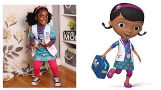 Doc McStuffins Halloween Costume + Hair Tutorial w/ Curly Q's