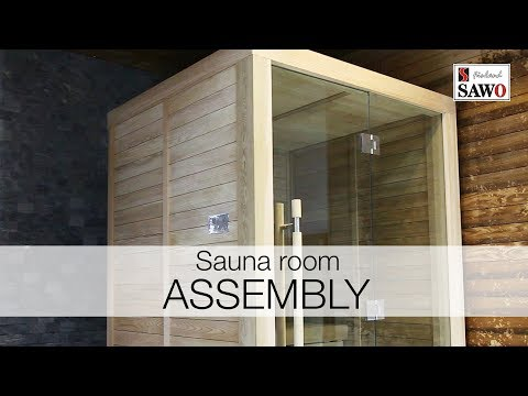 Glass Front Sauna Room Assembly 1