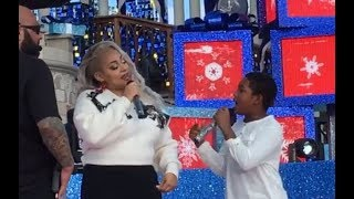 Raven Symone and Issac Brown Sings Ravens Home Theme at Disney Channel Holiday Celebration 2017