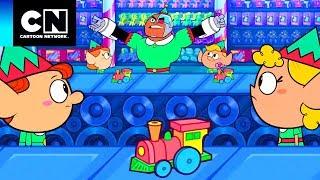 Os Jovens Titãs em Ação | Na fábrica de brinquedos | Cartoon Network