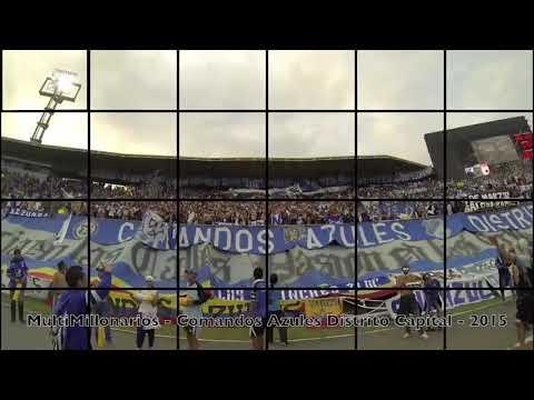"""""""SALIDA COMANDOS AZULES DE COLOMBIA"""" Barra: Comandos Azules • Club: Millonarios • País: Colombia"""