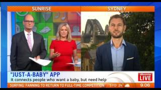 Sunrise AU Interview with Just A Baby Founder